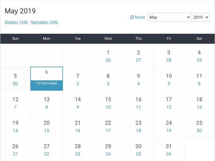 Hijri Calendar | Central Hijri Calendar Committee (HCC)